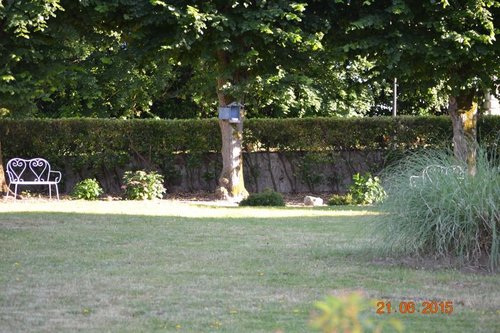 Espace détente sur pelouse