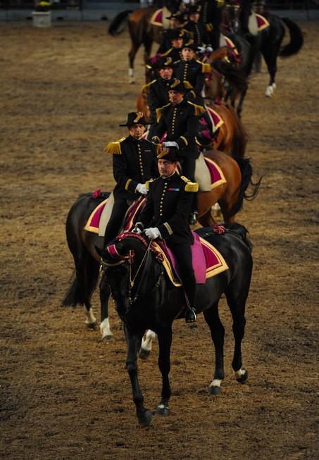 Reprise de dressage du Cadre noir de Saumur